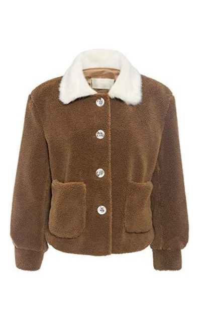 Miessial  Casual Faux Fur Short Jacket