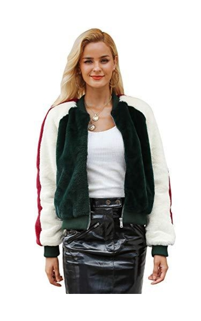 Simplee Faux Fur Bomber