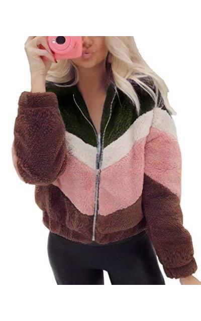 BTFBM  Faux Fur Fleece Jacket