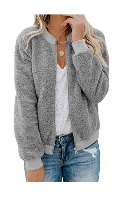 Acelitt Fleece Fluffy Shearling Sherpa Jacket