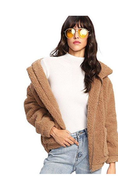 MakeMeChic Faux Fur Coat Jacket
