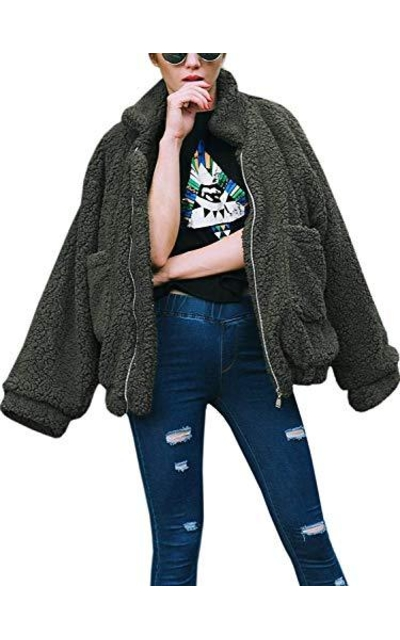 Fleece Fuzzy Faux Shearling Jackets