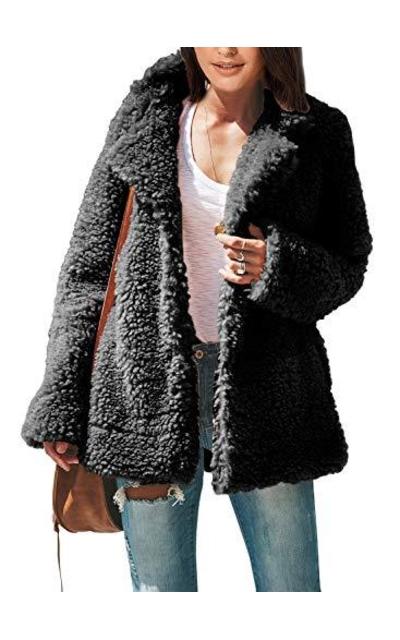 ROSKIKI Faux Shearling Jacket