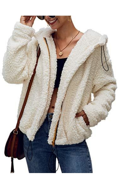 ECOWIS Faux Shearling Shaggy Oversized Coat