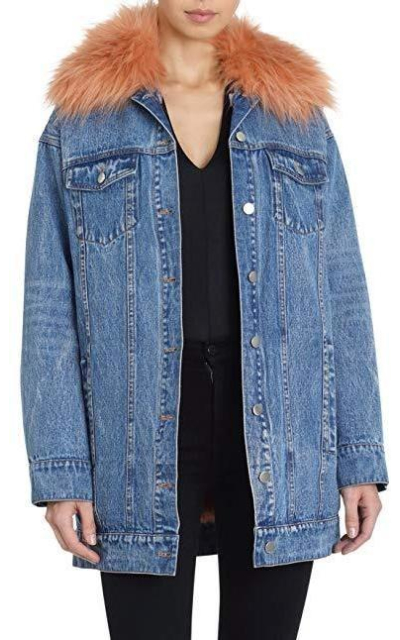 Avec Les Filles Trucker Jacket with Removable Faux Fur Lining