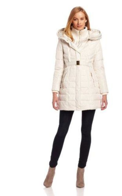 Kensie Long Down Coat with Hood