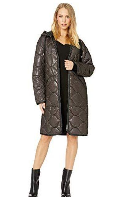 Avec Les Filles Quilted Mid Length Nylon Coat