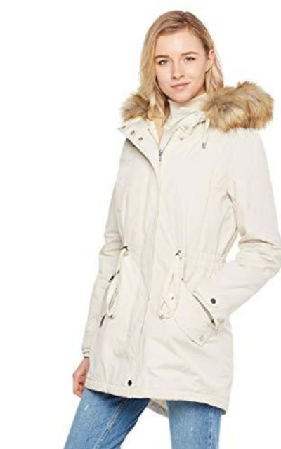 Royal Matrix Mid-Length Detachable Faux Fur Parka Jacket