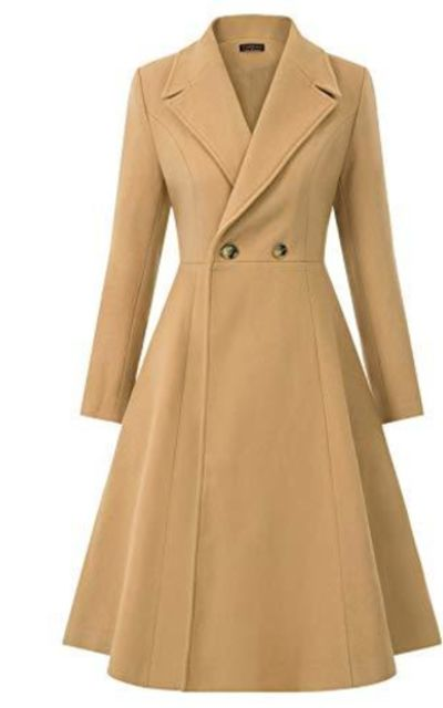 CURLBIUTY Wool Trench Coat