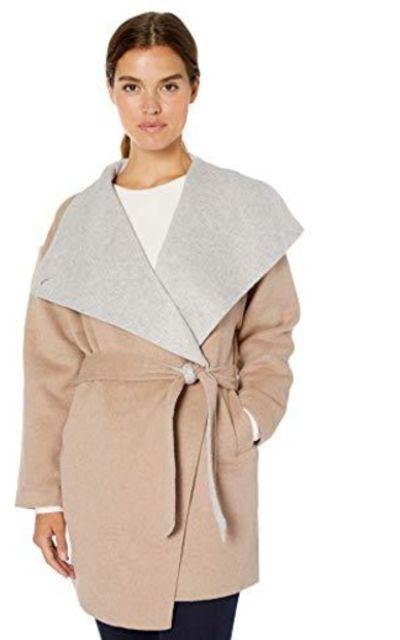 Amazon Brand - Daily Ritual Double-Face Wool Short Coat