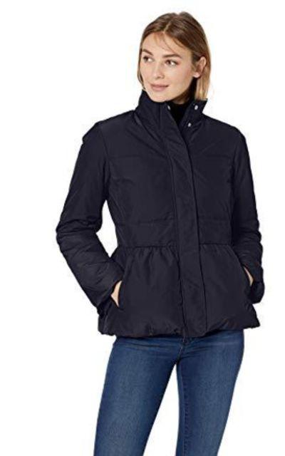 Amazon Brand - Lark & Ro Peplum Puffer Jacket