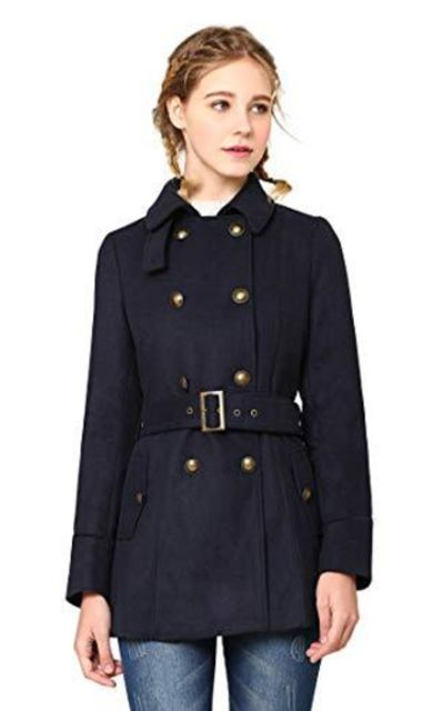 Wool Double Breasted Pea Coat