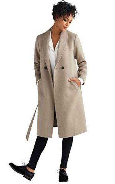 ellos Wool-Blend Coat