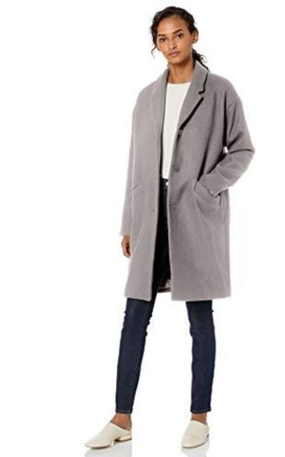 Amazon Brand - Daily Ritual Oversized Wool Blend Cocoon Coat