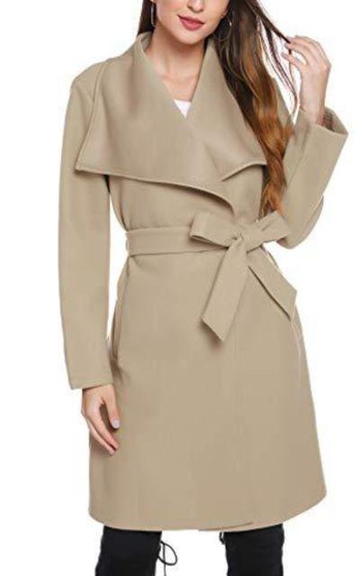 iClosam Peacoat Tie Front Coat