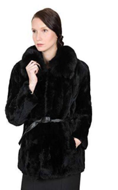 OBURLA Real Rex Rabbit Fur Coat