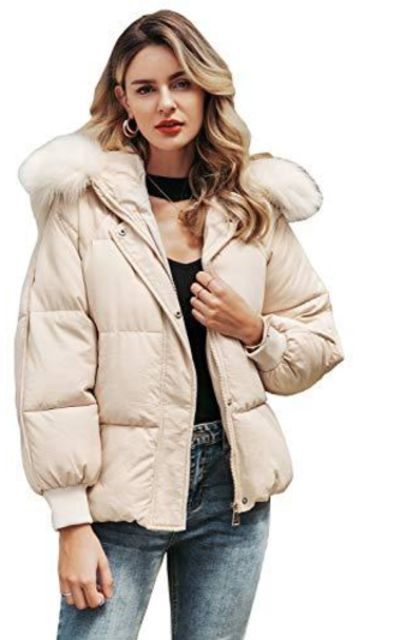 Miessial Faux Fur Collar Short Coat
