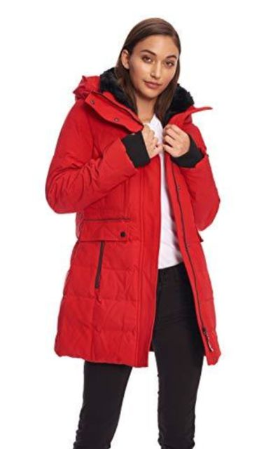 Alpine North Down Mid-Length Winter Coat with Hood