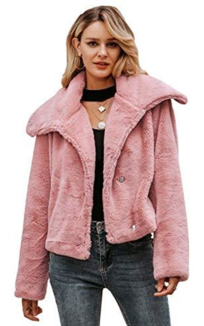 MsLure Faux Fur Lapel Coat