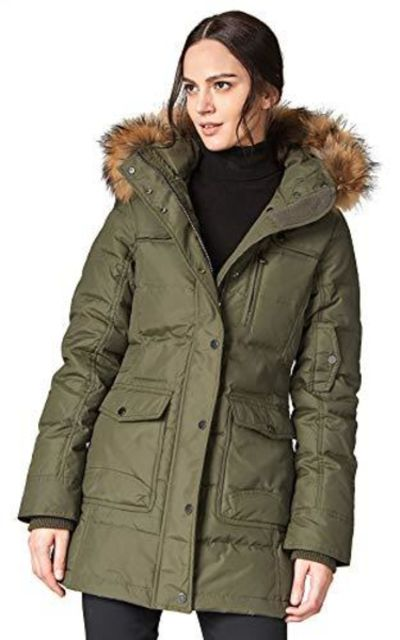 Escalier Parka Coat with Raccoon Fur Hooded