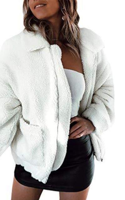 PRETTYGARDENFaux Shearling Shaggy Oversized Jacket