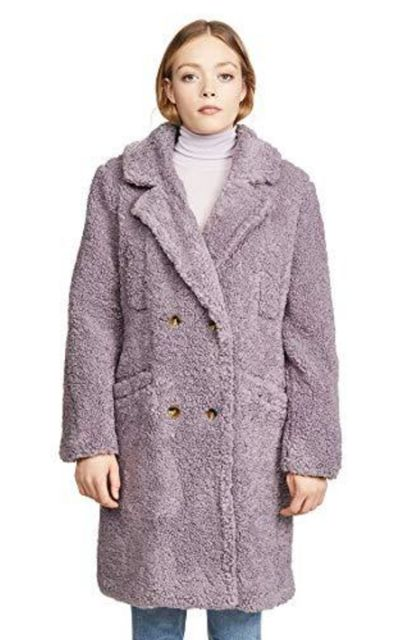 ASTR the label Freddie Faux Fur Teddy Long Coat