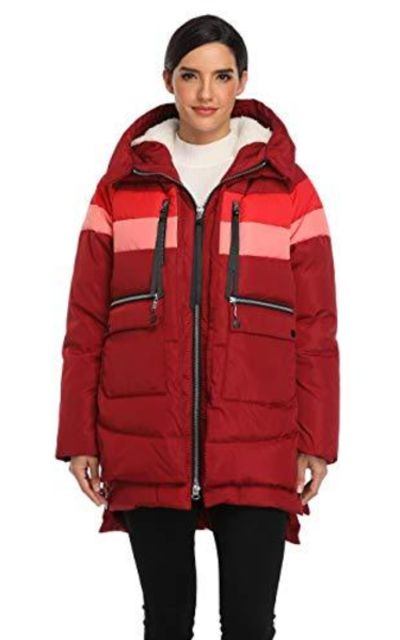 Emperor Goose Down Jacket Hooded Colorblock Puffer Parka