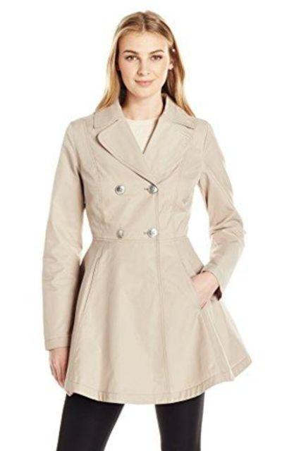 Lark /& Ro Womens Cropped Trench Coat