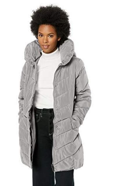 Steve Madden Chevron Quilted Puffer Jacket