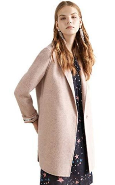 WAFT YEARN Single Breasted Lapel Winter Coat