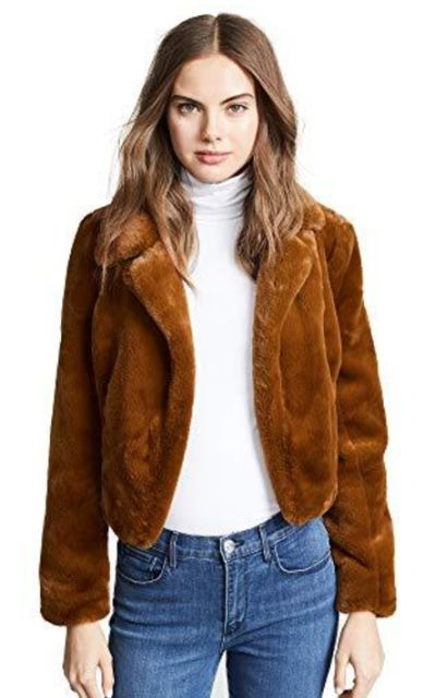 [BLANKNYC] Blank Denim Cropped Faux Fur Jacket
