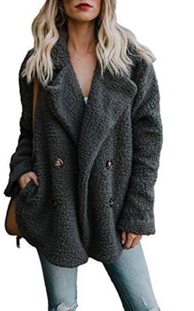 Dokotoo Fleece Coat with Pockets