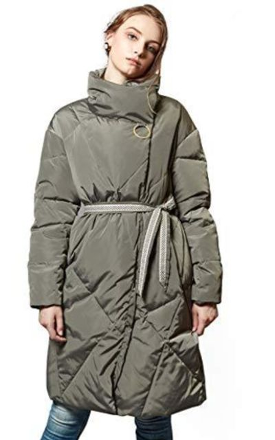 ANNA&CHRIS Stand Collar Puffer Coat
