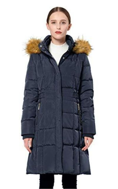 Orolay Puffer Down Coat Winter Jacket with Faux Fur Trim Hood
