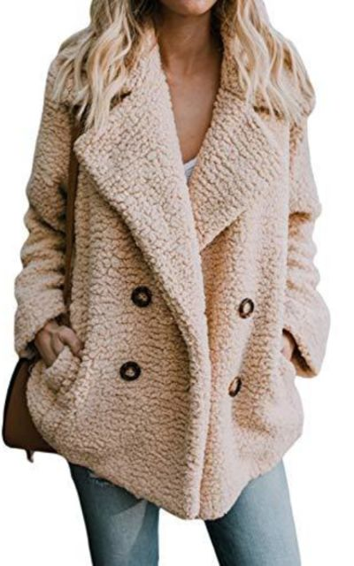 HOTAPEI Oversized Teddy Coat