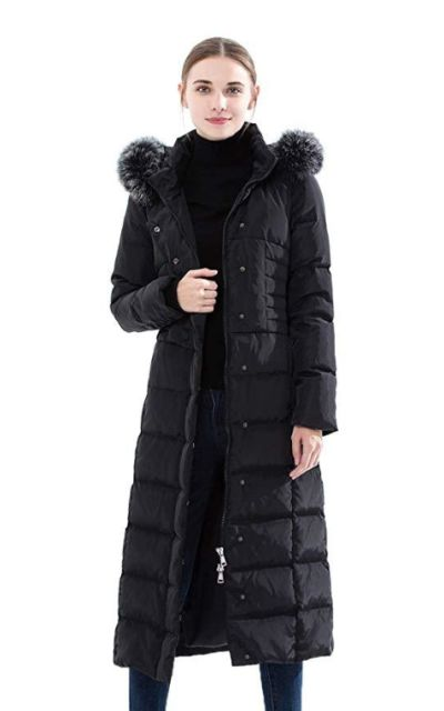 Obosoyo Hooded Thickened Long Down Jacket