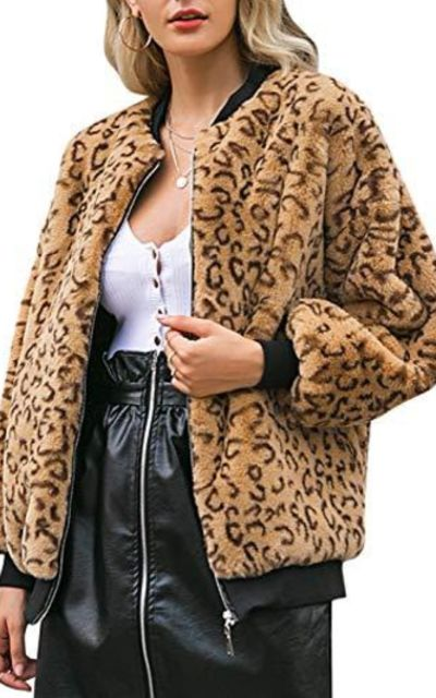 MsLure Leopard Faux Fur Coat