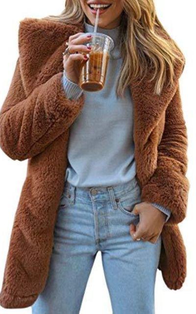BerryGo Shaggy Faux Fur Coat