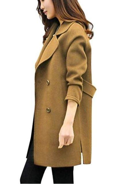 NREALY Cardigan Slim Coat Overcoat