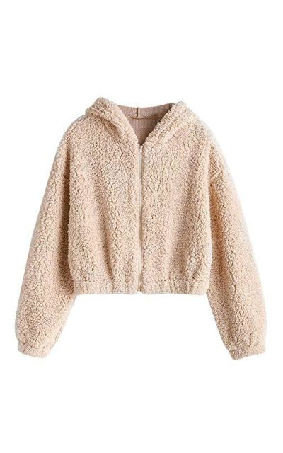 ZAFUL Faux Fur Fuzzy Coat