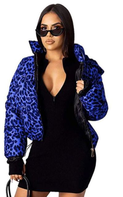 Women Short Leopard Coat