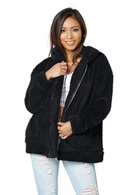 Carprinass Fuzzy Fleece Jacket
