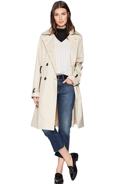 Sam Edelman Double Breasted Trench Coat w/Belt