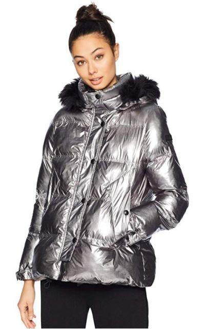 Sam Edelman Metallic Puffer Jacket