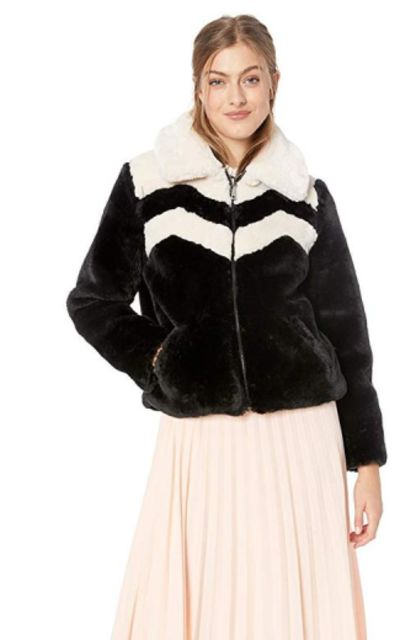 Guess Joely Faux Fur Jacket