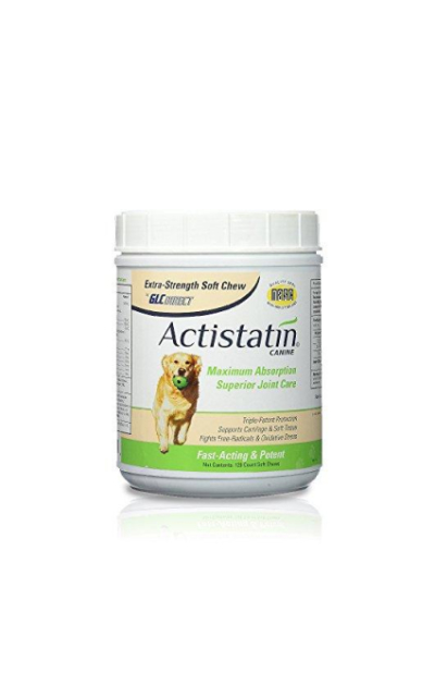 Actistatin Canine Large Dog Soft Chews, 120ct – Patented Extra-Strength Joint, Cartilage, Soft Tissue Supplement: Glucosamine, Chondroitin, Manganese, MSM, L-Carnitine