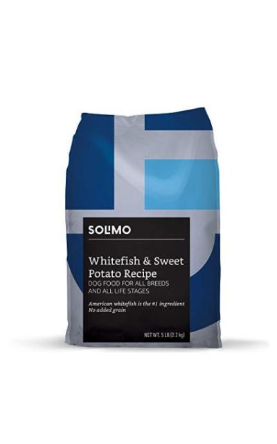 Amazon Brand - Solimo Ultra-Premium Dry Dog Food, No Added Grain (Beef, Chicken, Whitefish)
