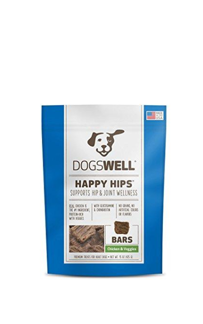 Dogswell Happy Hips Dog Treats, Chicken & Veggies, 15 Ounce