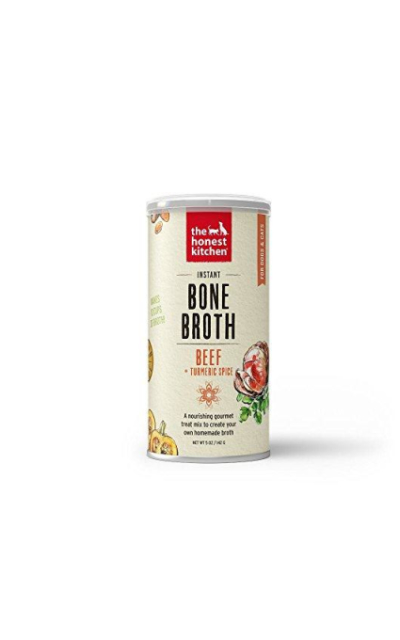 The Honest Kitchen Bone Broth - Natural Human Grade Functional Liquid Treat for Dogs & Cats, 5 oz