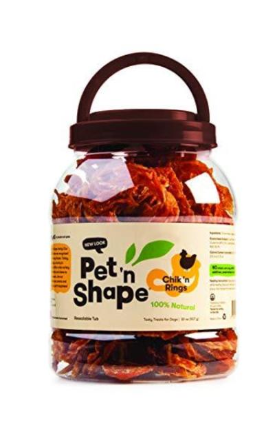 Pet 'n Shape Chik 'n Rings Natural Dog Treats, 4-Ounce